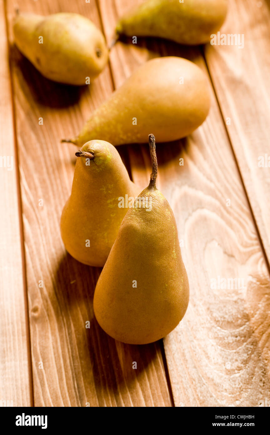 five pears - Stock Image