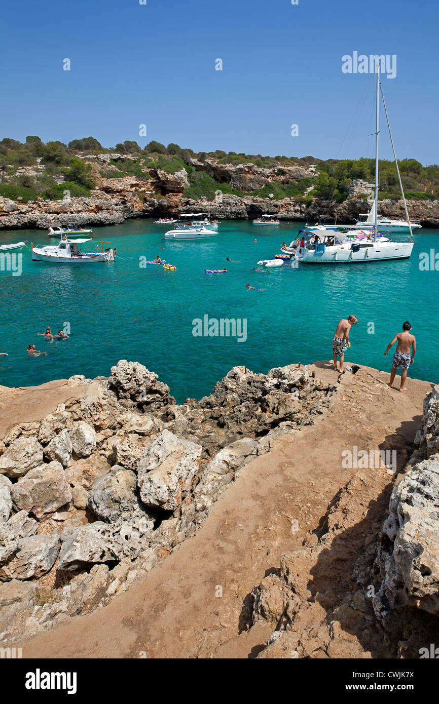Cala Sa Nau. Mallorca Island. Spain Stock Photo