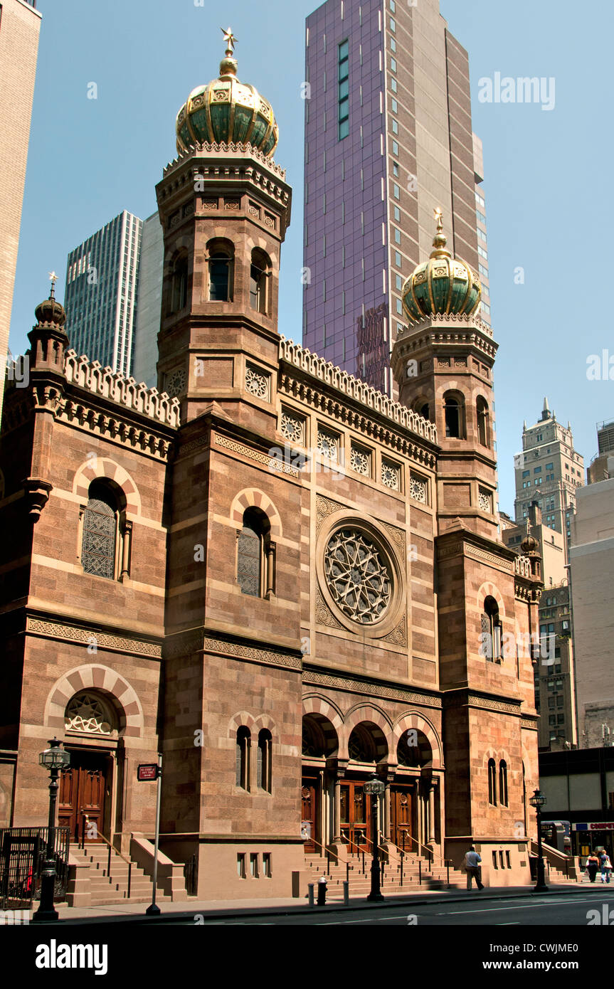 Central Synagogue 652 Lexington Avenue Mid Town Manhattan New York City - Stock Image