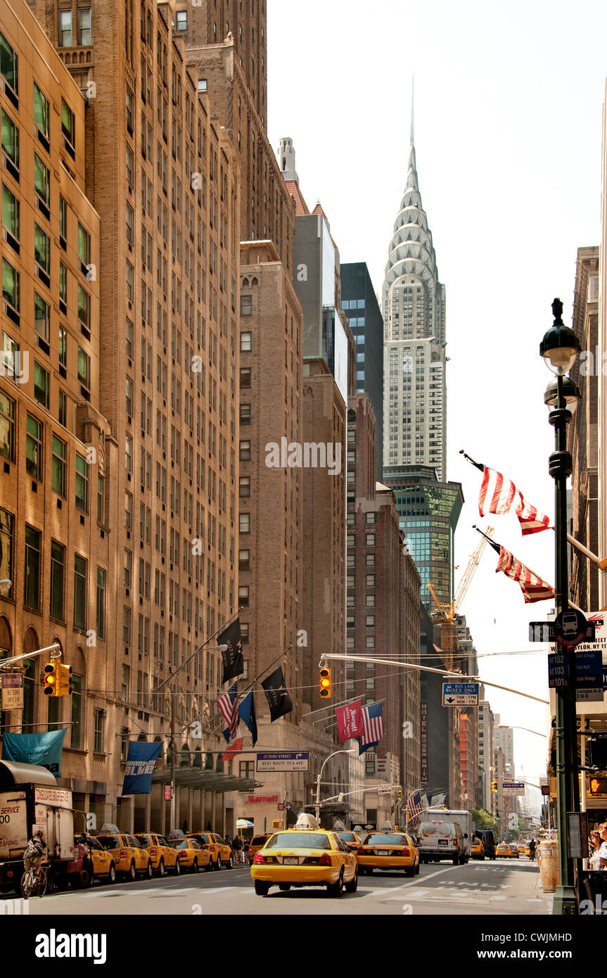 Chrysler Building Lexington Avenue Manhattan New York City United States - Stock Image