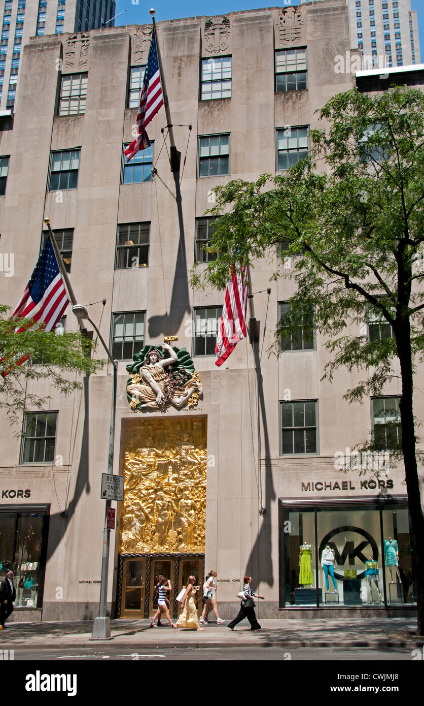 1803de47abe3 Michael Kors 5th Avenue New York Rockefeller Center Friendship Between  America and France Bas Relief -