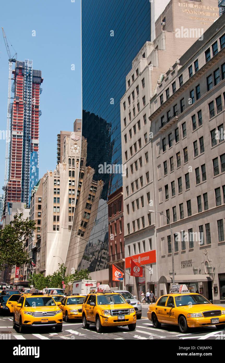 Architecture West 58th Street 5th Avenue New York City Manhattan - Stock Image