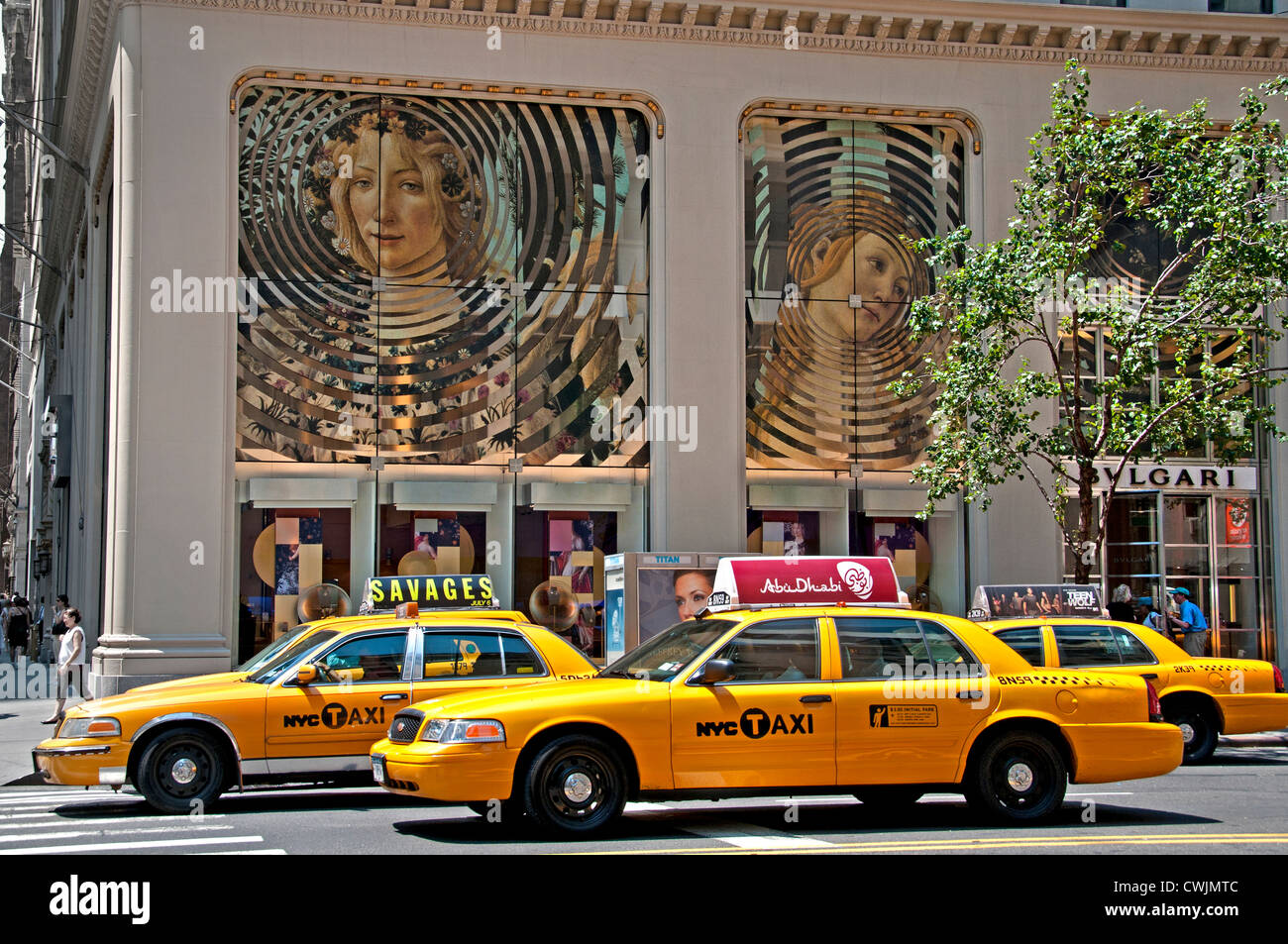 Bvlgari Bulgari E 57th Street New York City Manhattan American United States of America - Stock Image