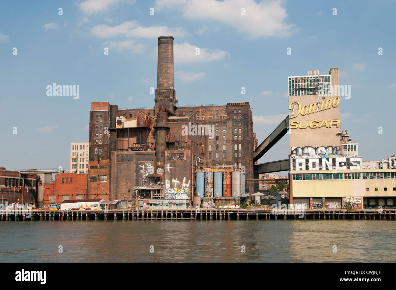 Domino Sugar refinery  Williamsburg Brooklyn New York United States of America - Stock Image