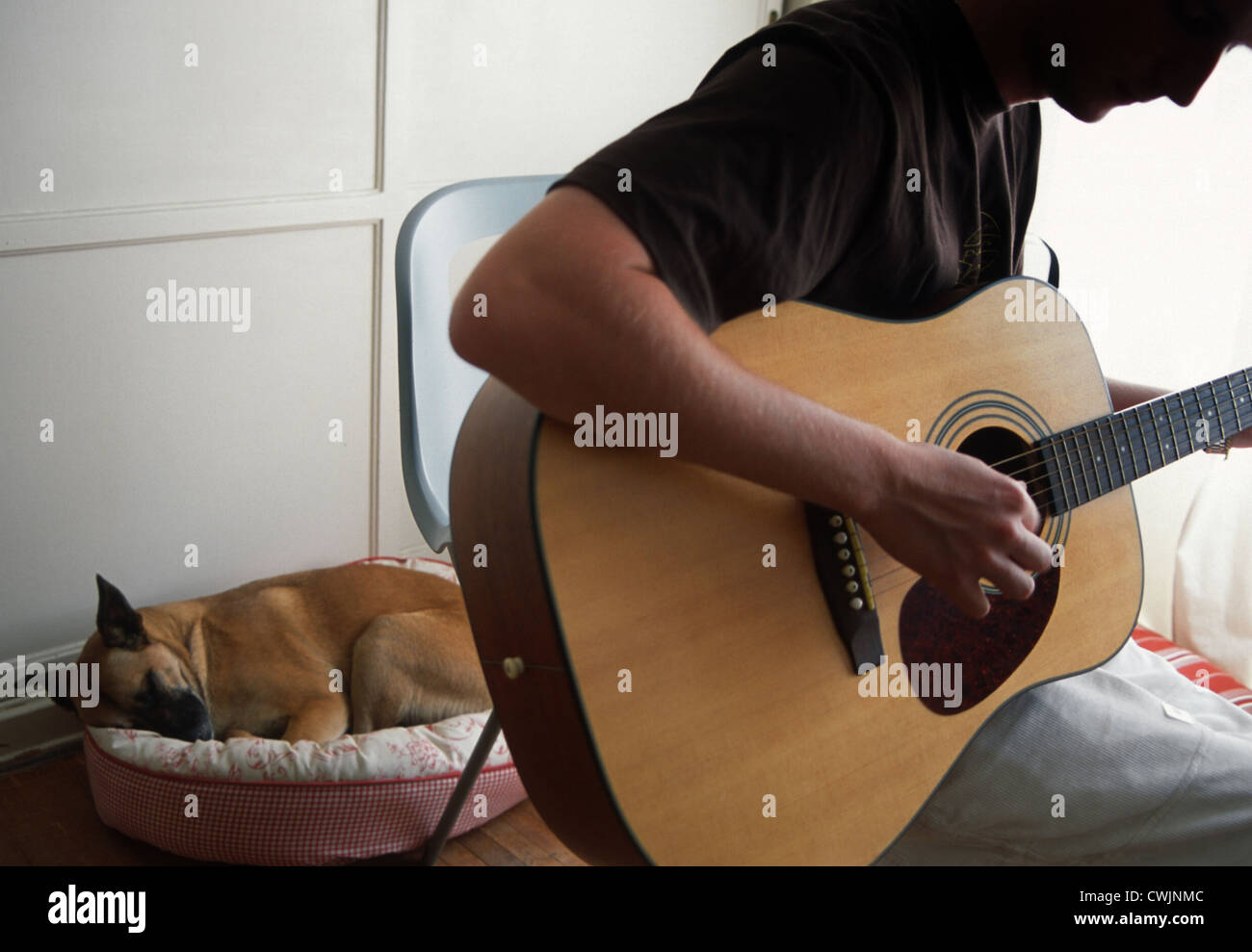 Teenager Playing GuitarStock Photo