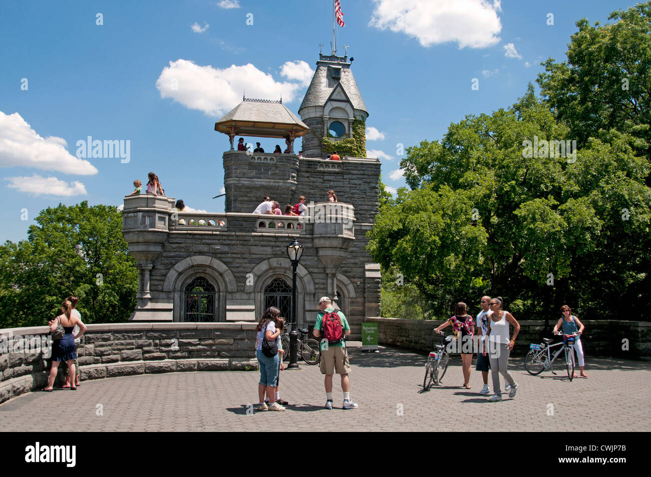 Belvedere Castle is a building in Central Park in New York City Manhattan United States - Stock Image