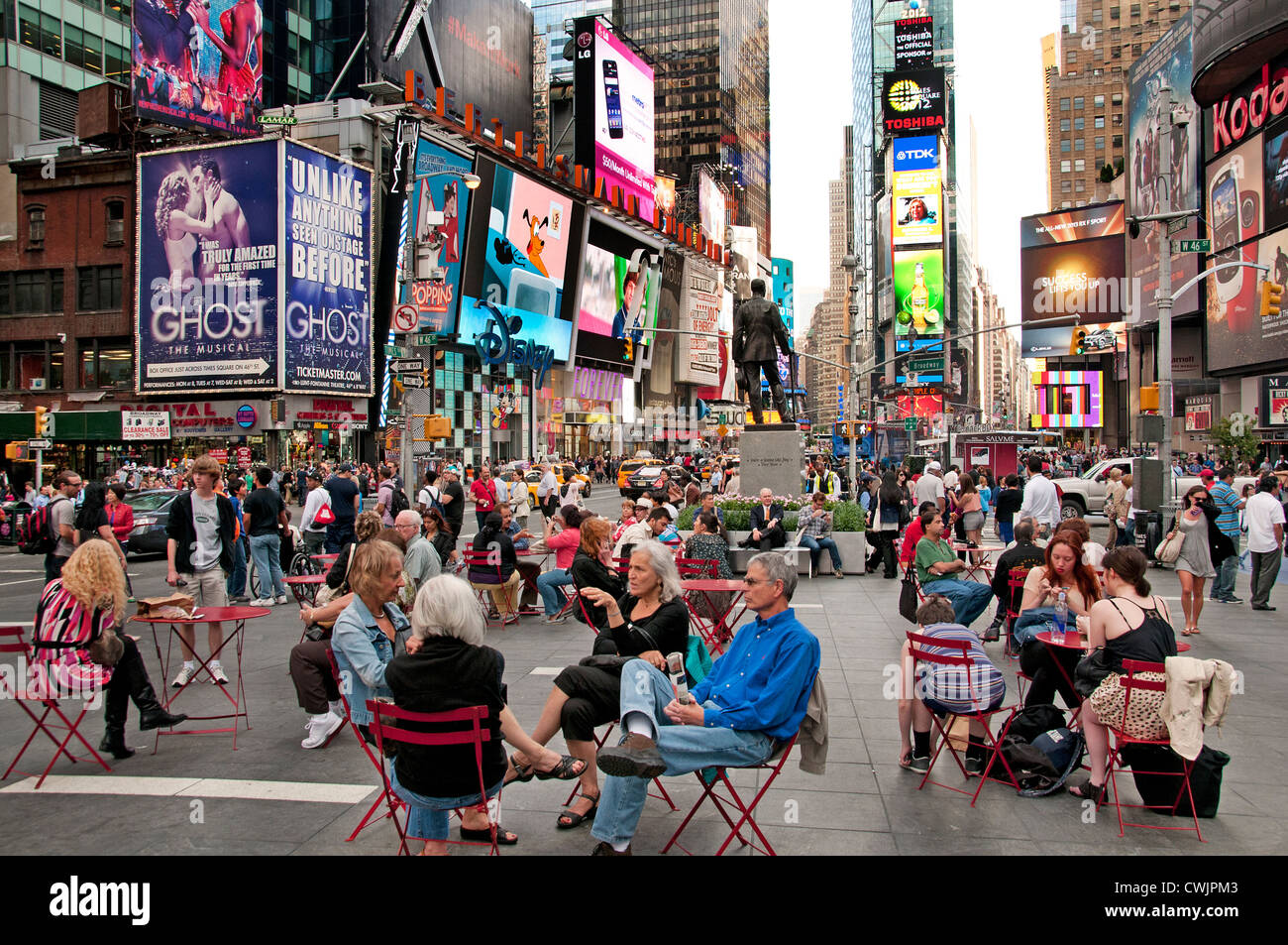 Times Square Broadway New York City Theater Music - Stock Image