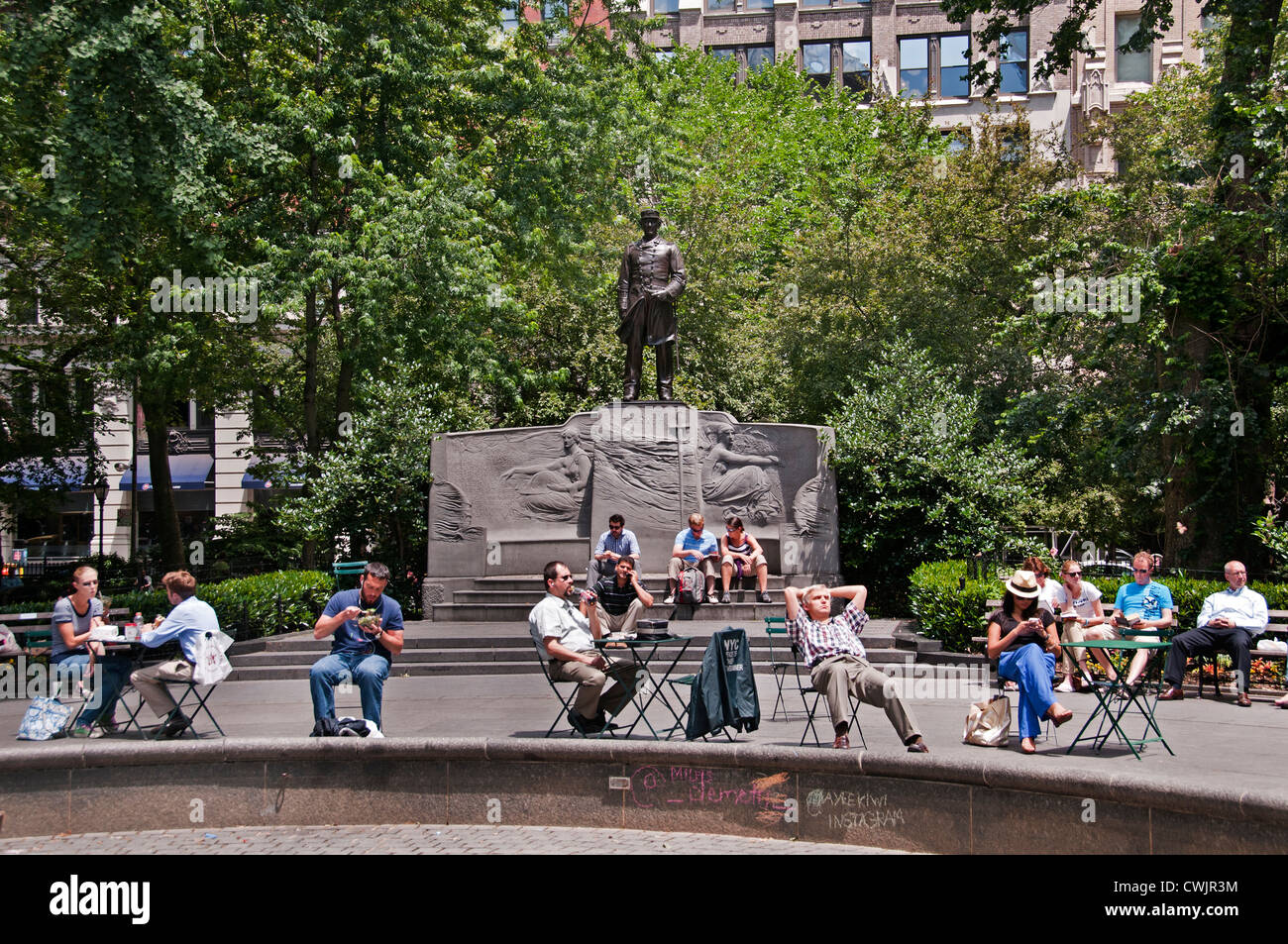 Madison Square Park Manhattan New York City Flatiron Building District - Stock Image