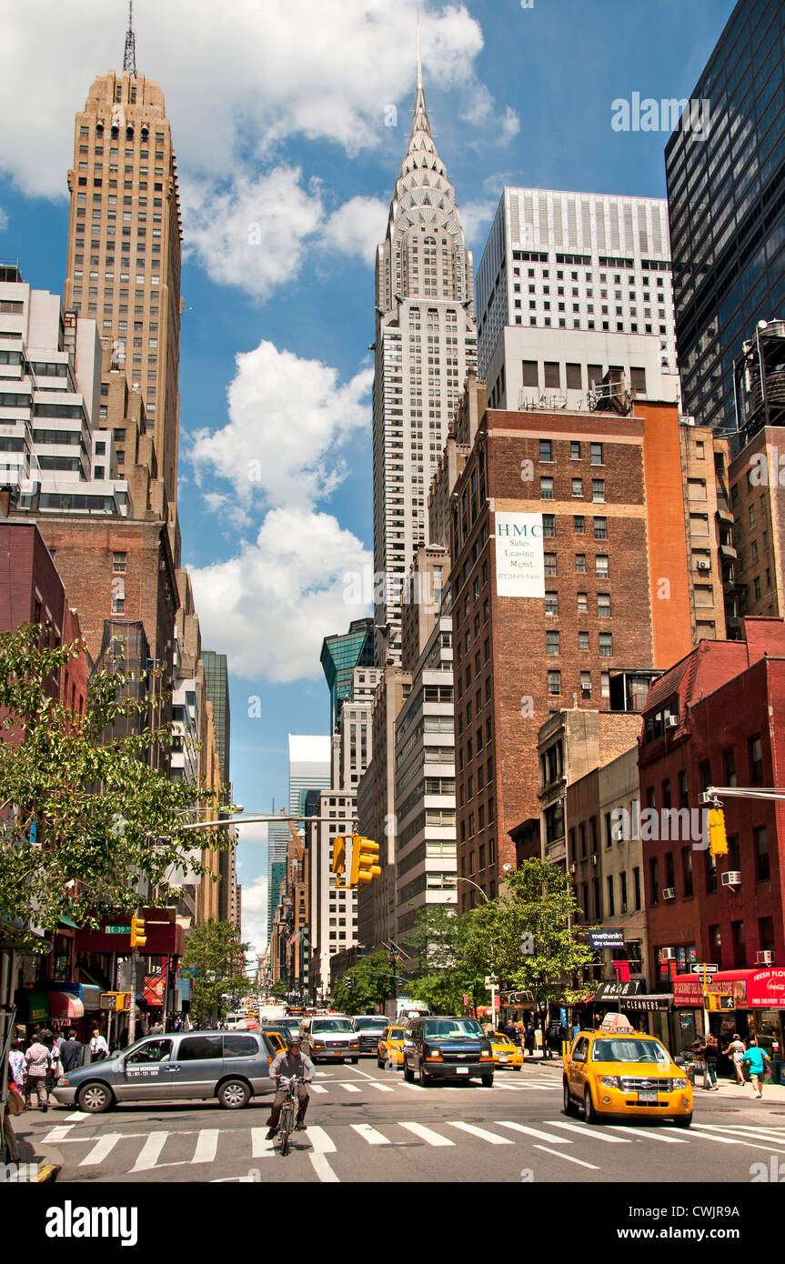 Chrysler Building Lexington Avenue Manhattan New York City United States of America American - Stock Image