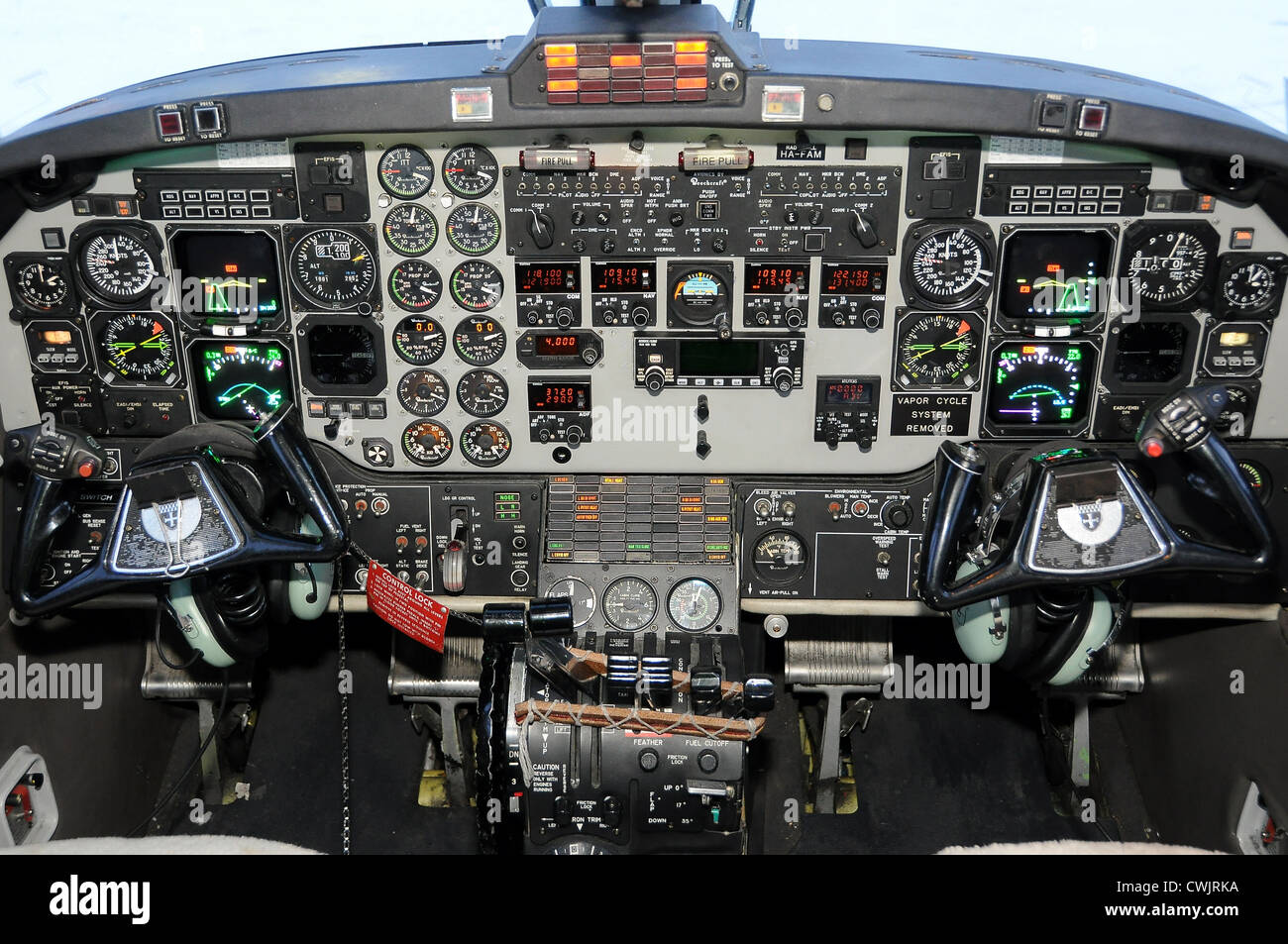Aircraft Cockpit - Stock Image