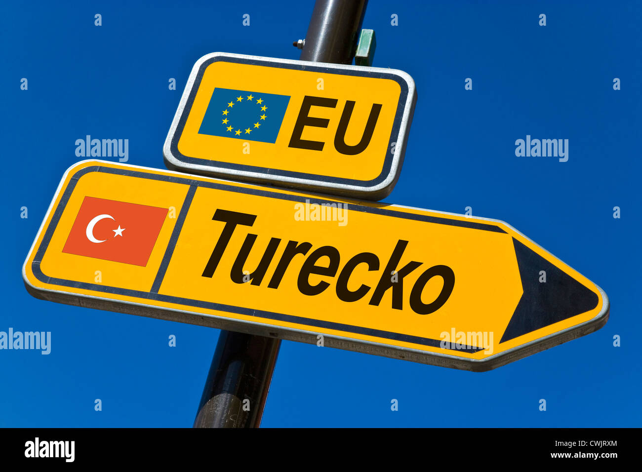EU - candidate state for membership 2010 - Turkey - Stock Image