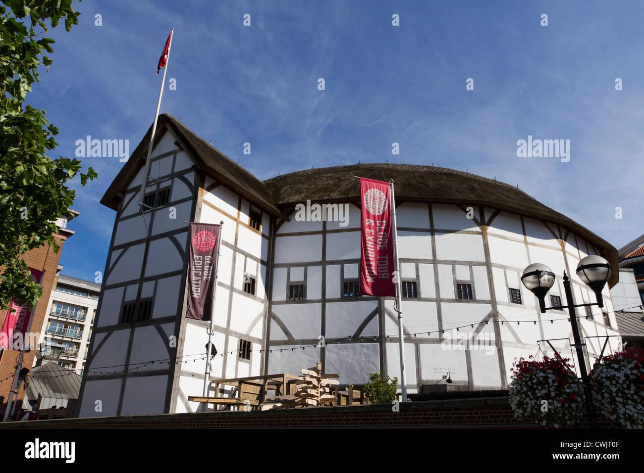 Shakespeare's Globe Theatre, Bankside, Southwark, London, England, UK - Stock Image