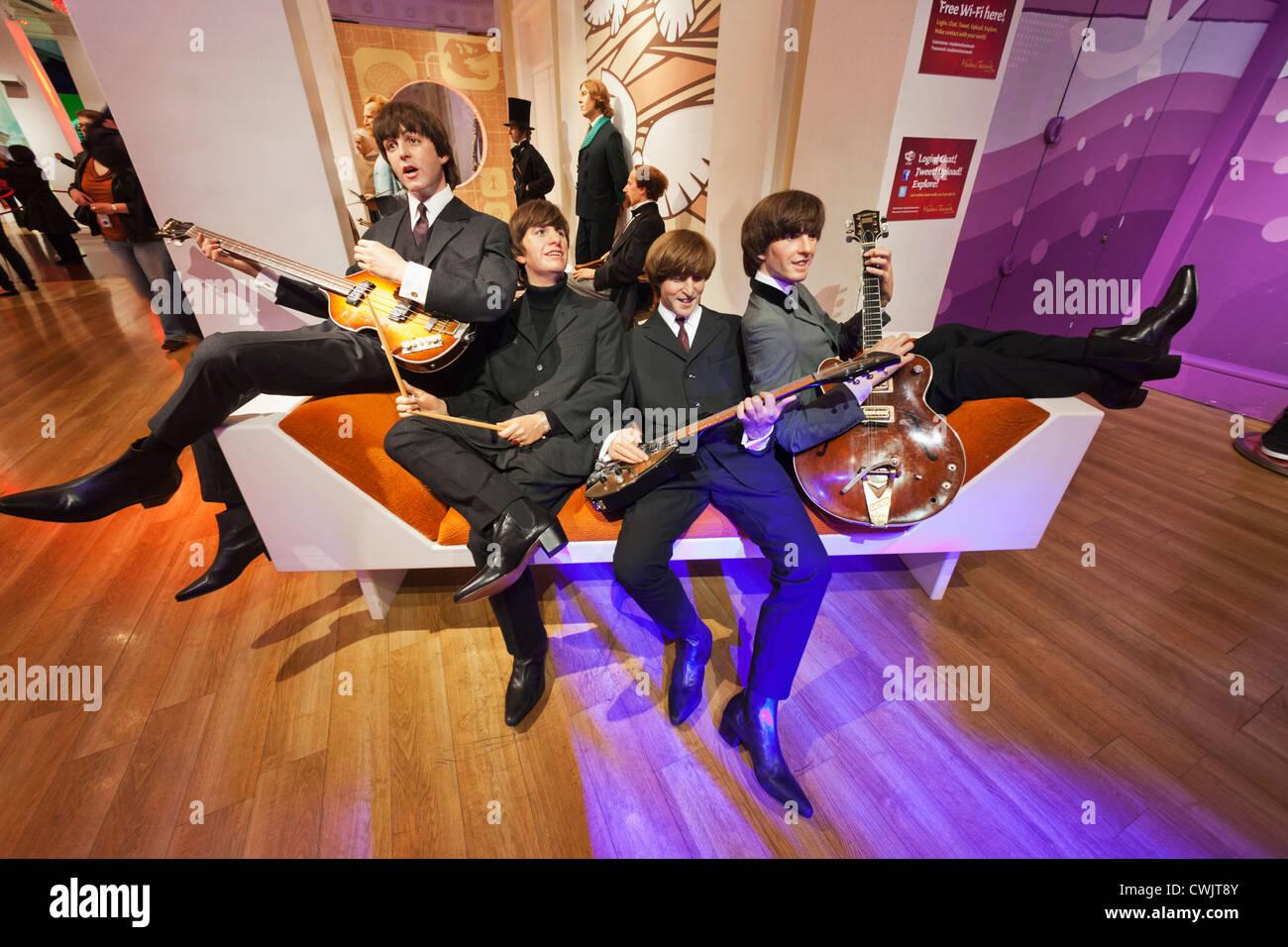 England, London, Madame Tussauds, Waxwork Display of The Beatles - Stock Image