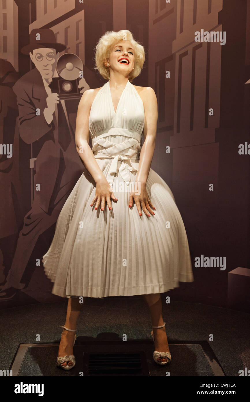 England, London, Madame Tussauds, Waxwork Display of Marilyn Monroe - Stock Image