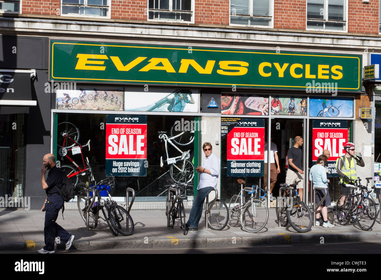 Evans cycles, bicycle shop, London, England, UK - Stock Image