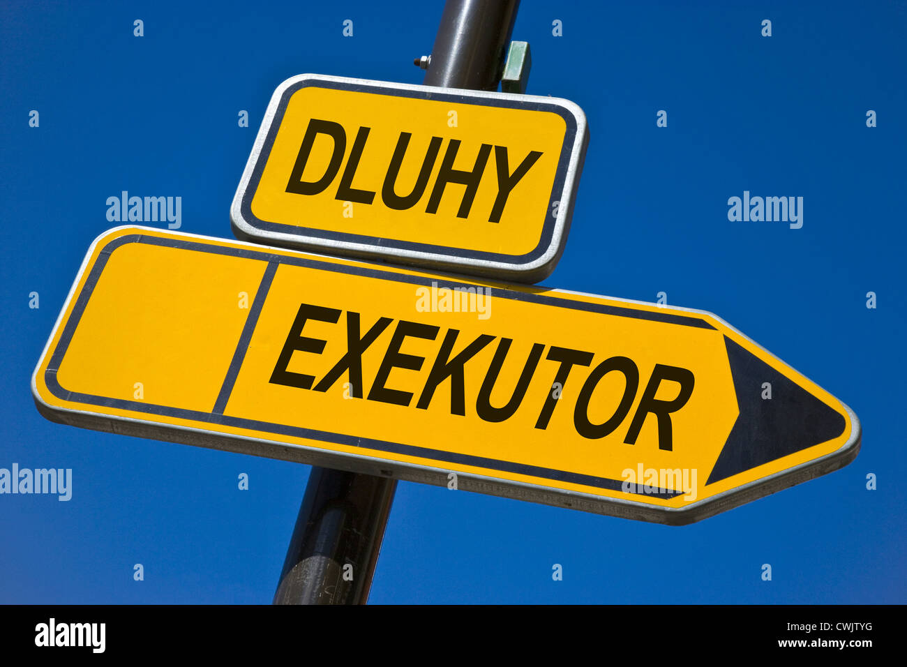 Czech business and finance -  debt and execution - Stock Image