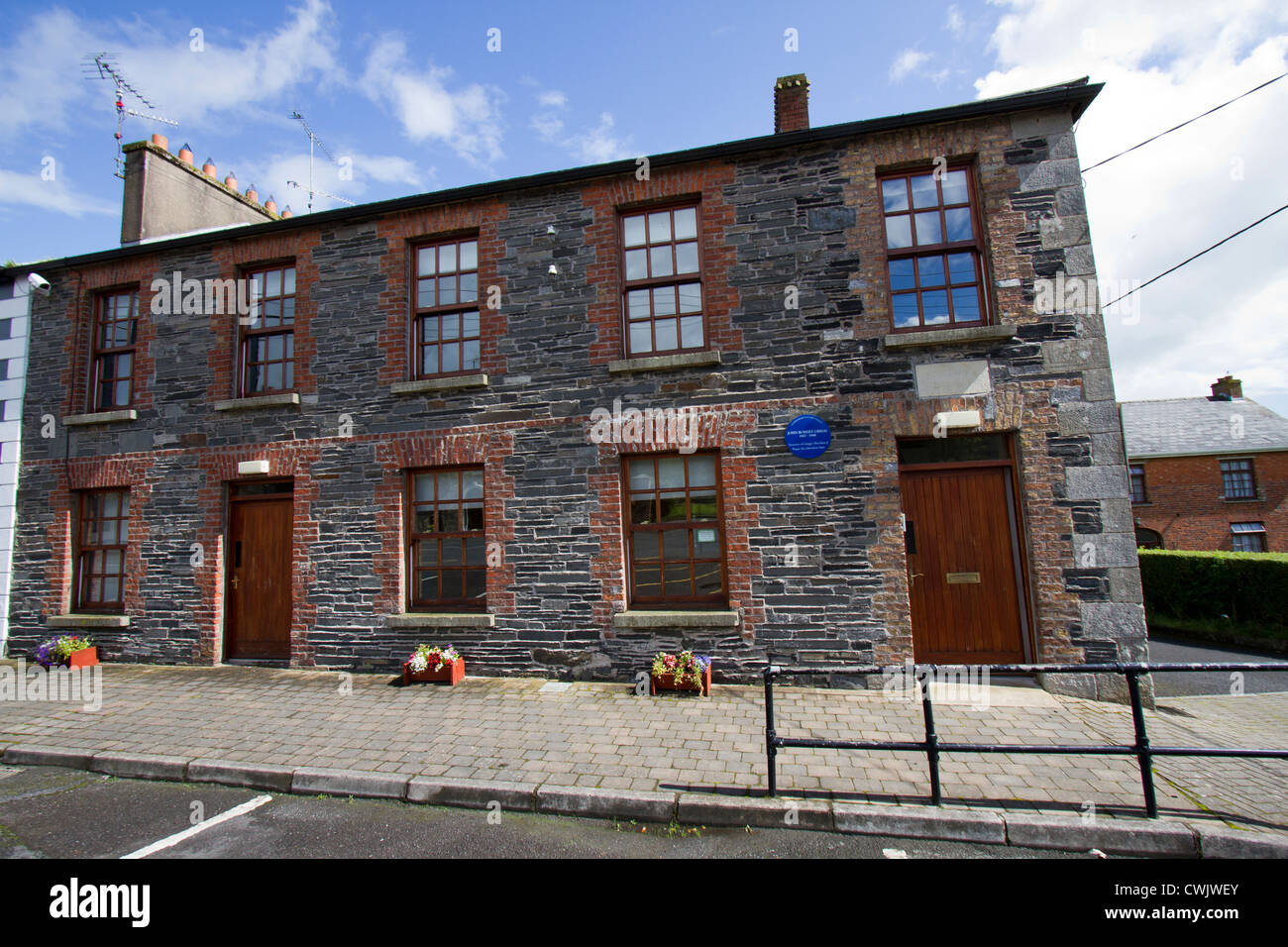 The former schoolhouse in Rockcorry, Co. Monaghan, where John Robert Gregg, the inventor of the shorthand system, - Stock Image