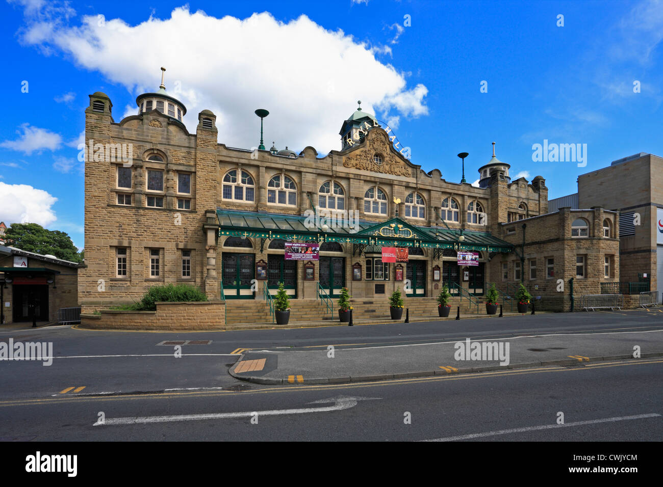 The Royal Hall cultural centre providing a venue for arts, entertainments, and events in Harrogate, North Yorkshire, - Stock Image
