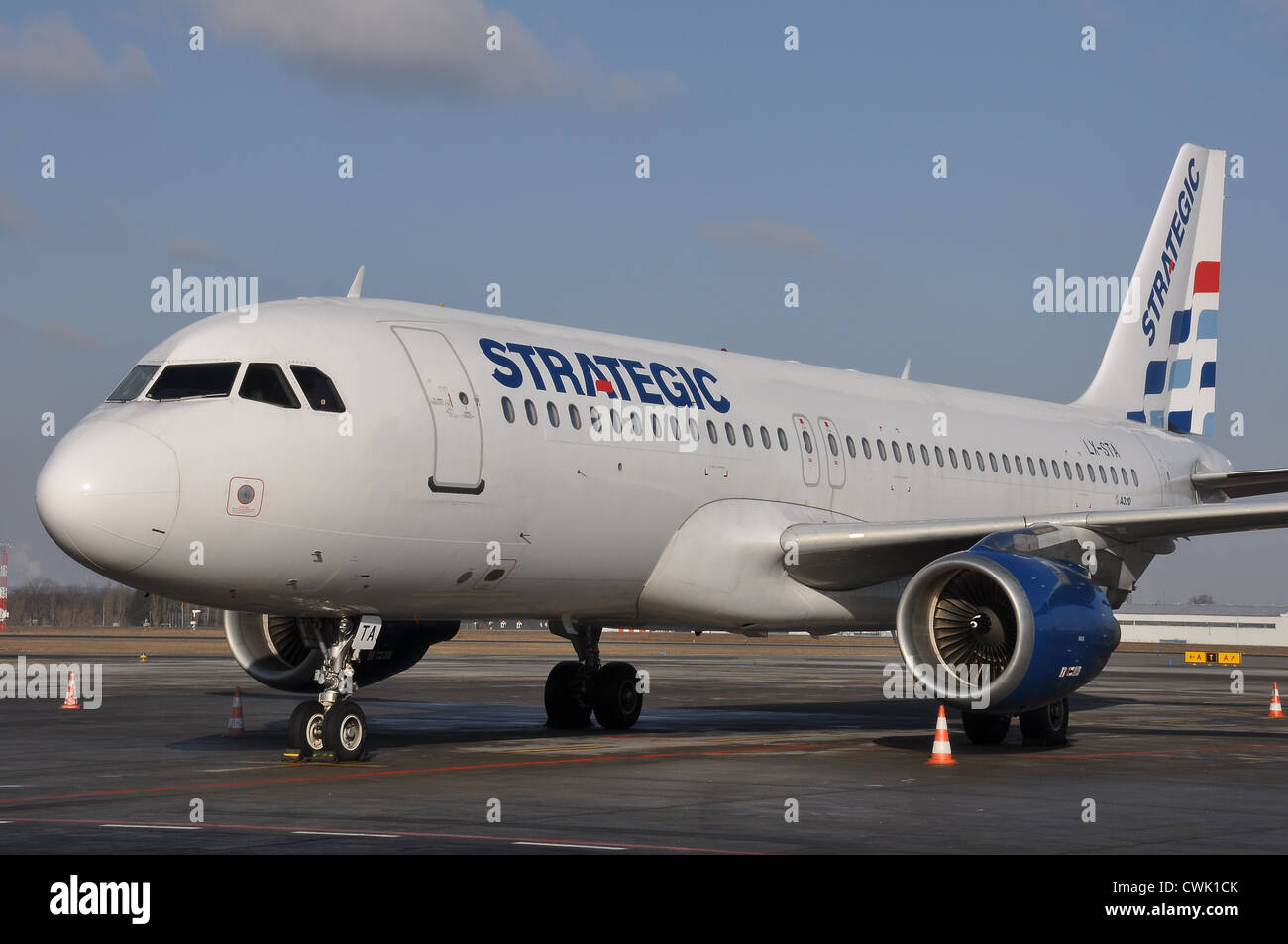 Strategic Airlines Airbus A320 - Stock Image