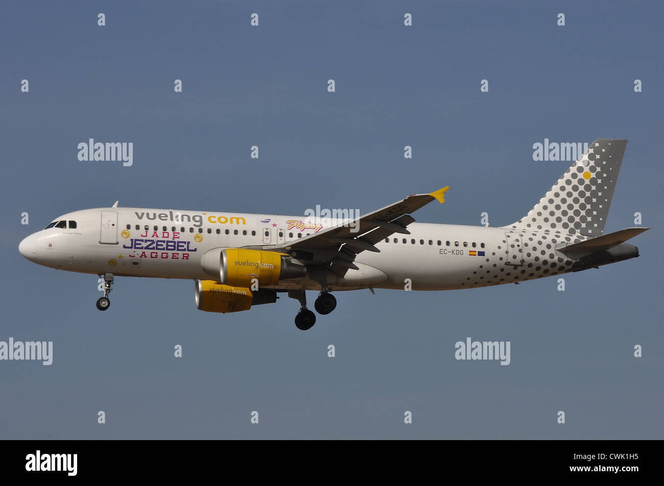 Airbus A320 Vueling Airlines - Stock Image
