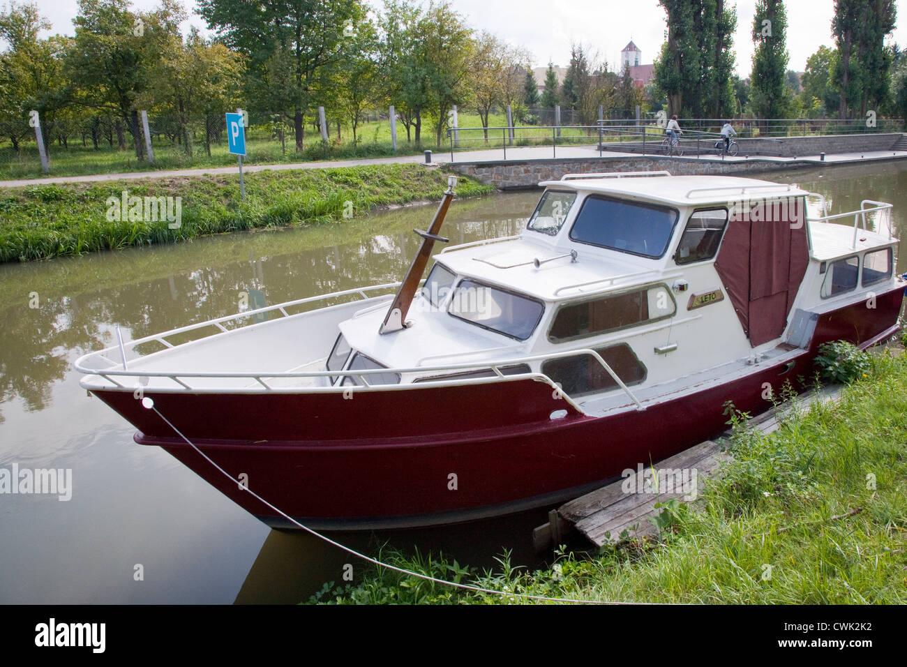 Batuv kanal, reka Morava, Straznice, Slovacko, Morava, Ceska republika Stock Photo