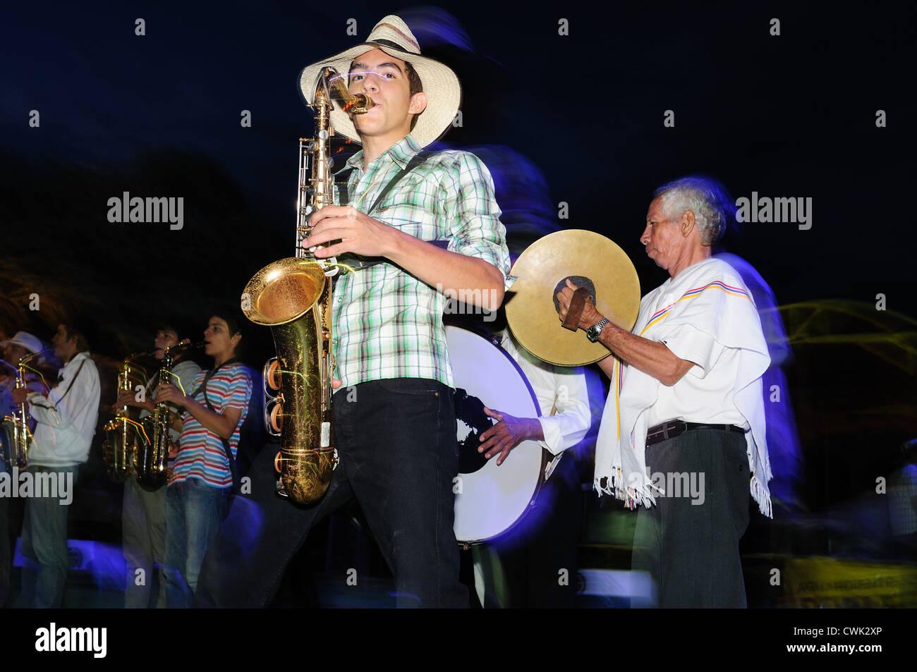 ' Festival del Sanjuanero Huilense ' in RIVERA . Department of Huila. COLOMBIA - Stock Image