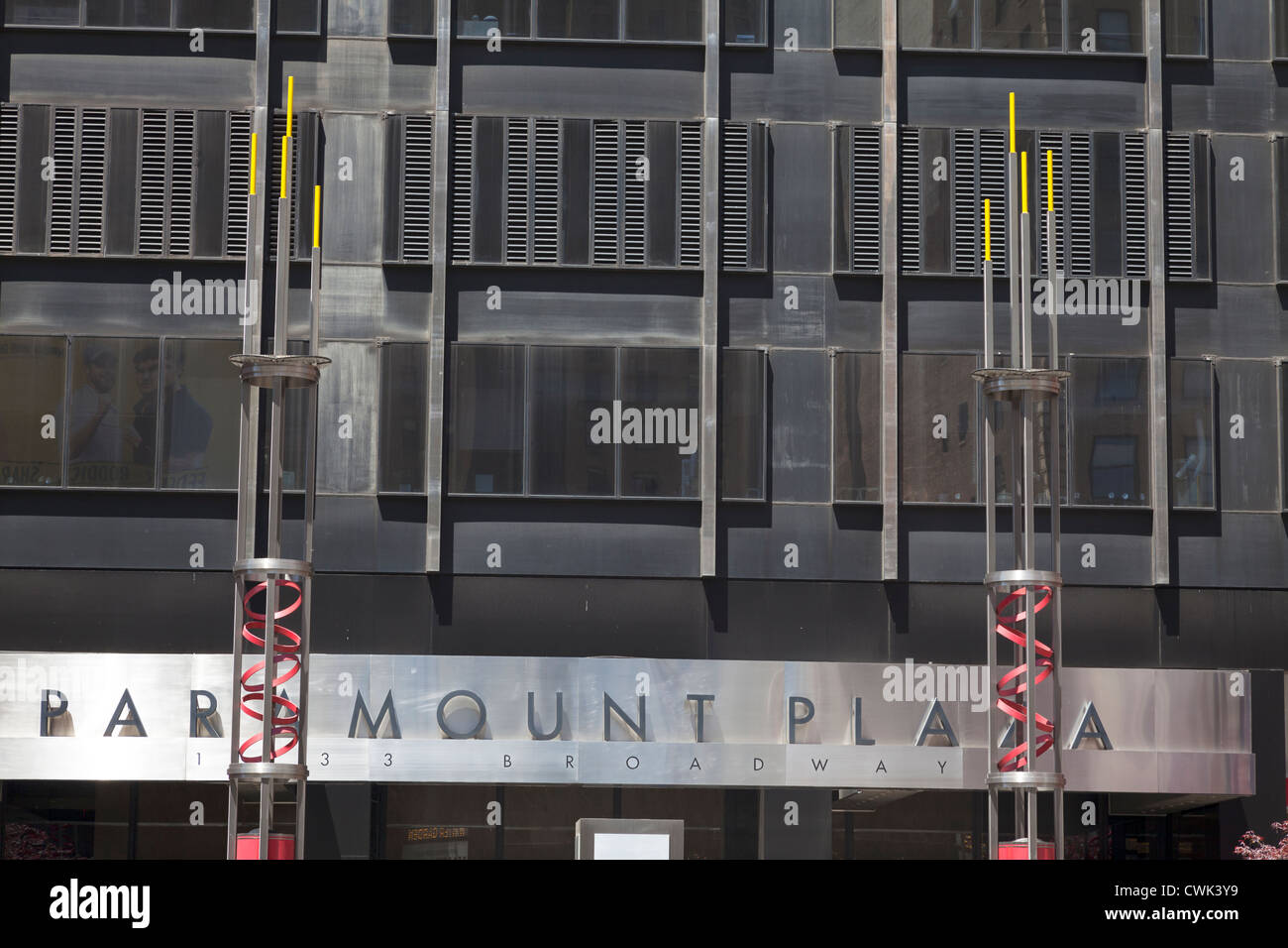 Front facade exterior of Paramount Plaza in Manhattan, New York City, NYC, NY, USA, America - Stock Image