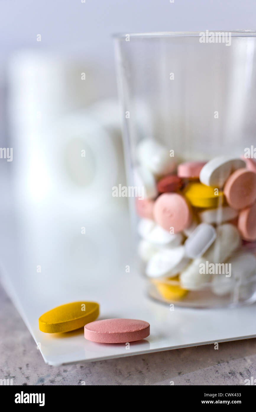 health care system - medicaments - Stock Image