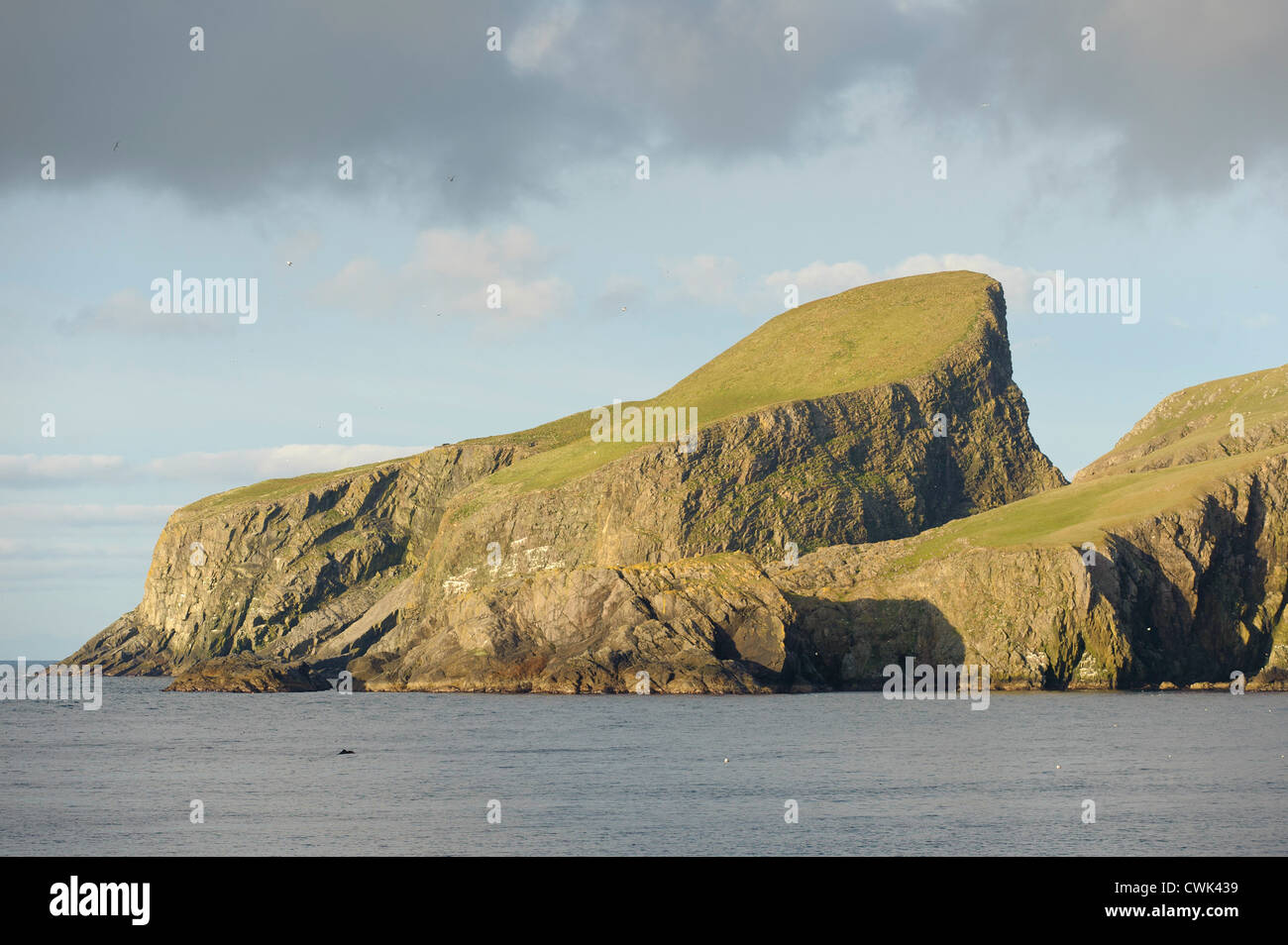 Sheep Craig or Sheep Rock on Fair in the Shetland Islands. June 2012. - Stock Image