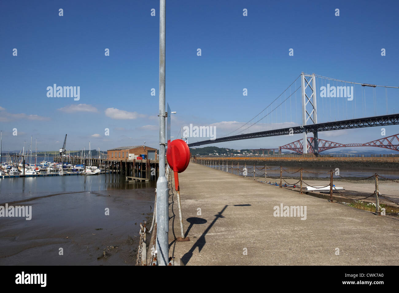 port edgar marina and watersports centre firth of forth scotland uk united kingdom - Stock Image