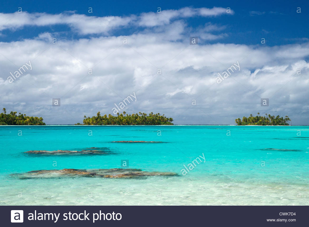 Rangiroa (Tuamotu archipelago - French Polynesia) : the blue lagoon - Stock Image