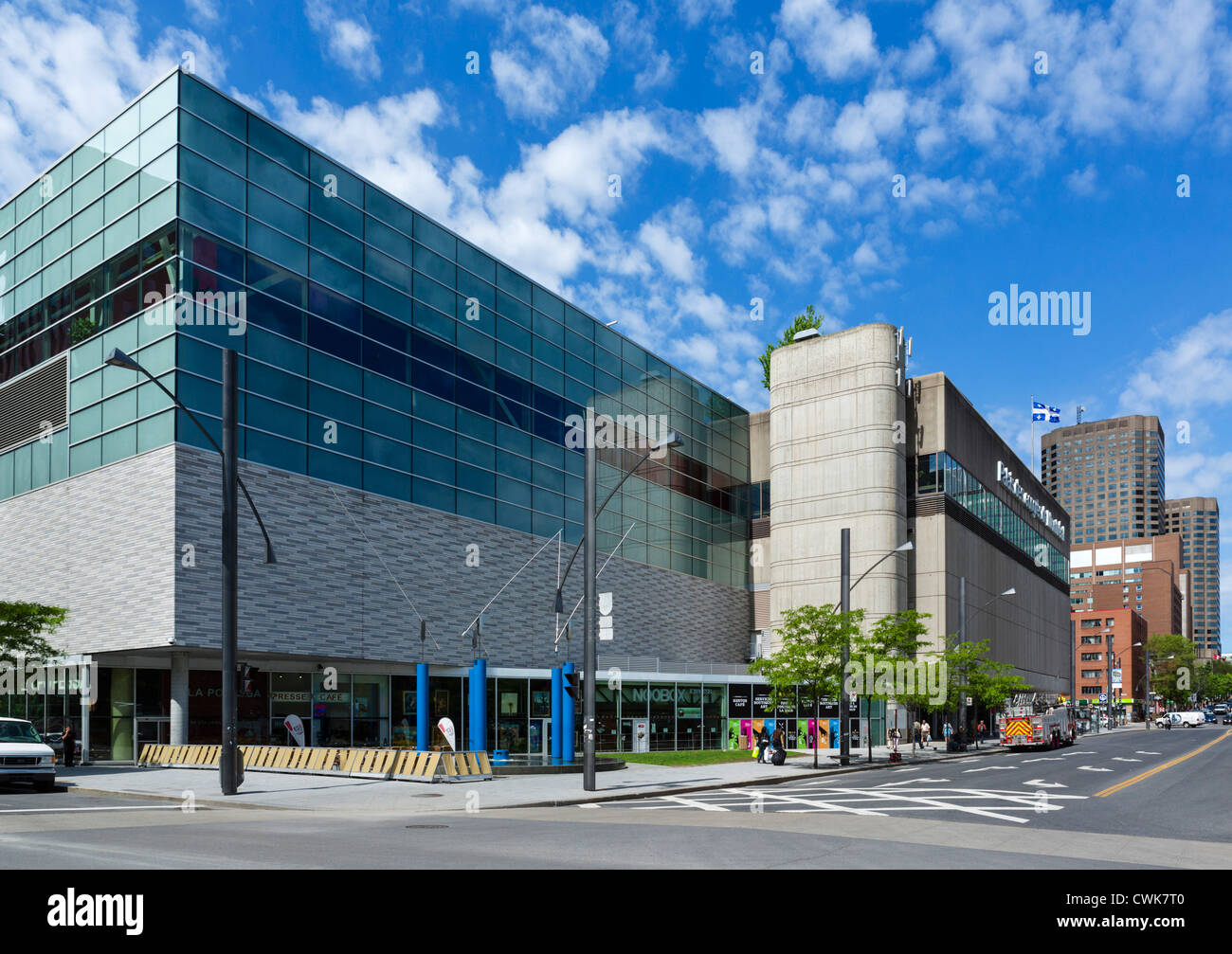 The Palais des Congres de Montreal convention centre, Quartier International, Montreal, Quebec, Canada Stock Photo