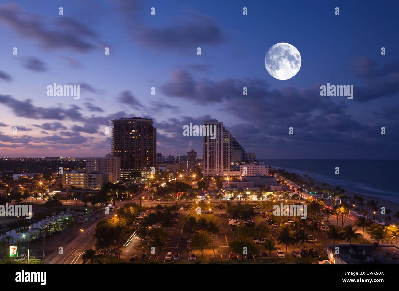 FORT LAUDERDALE SKYLINE FLORIDA USA Stock Photo