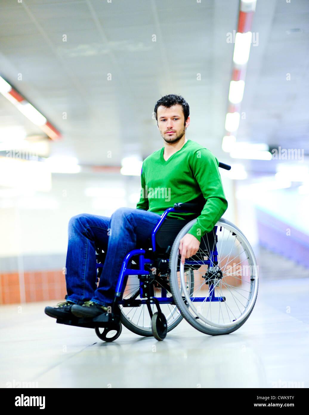 Wheelchair user - Stock Image