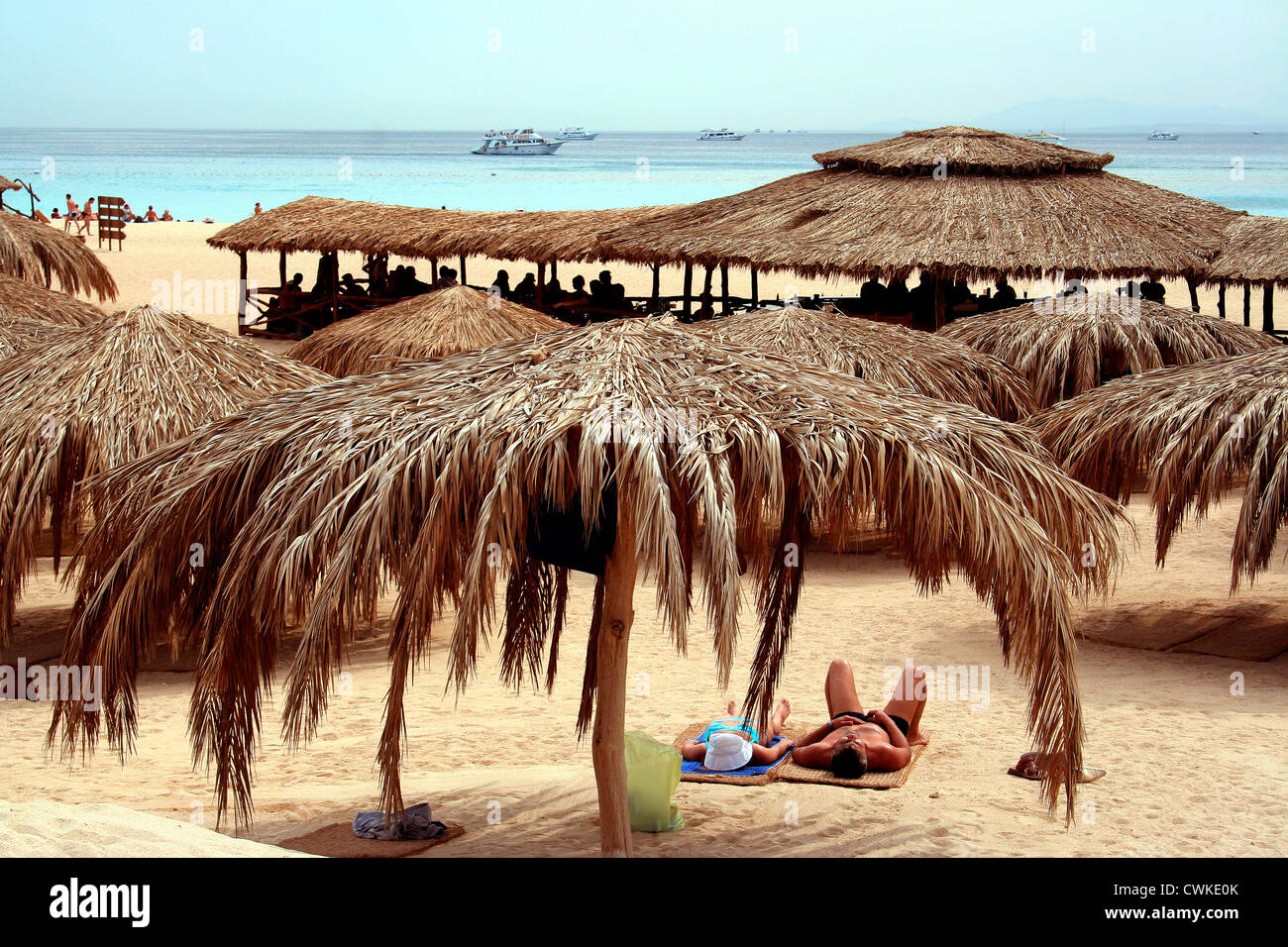 Beach in Egypt - Stock Image