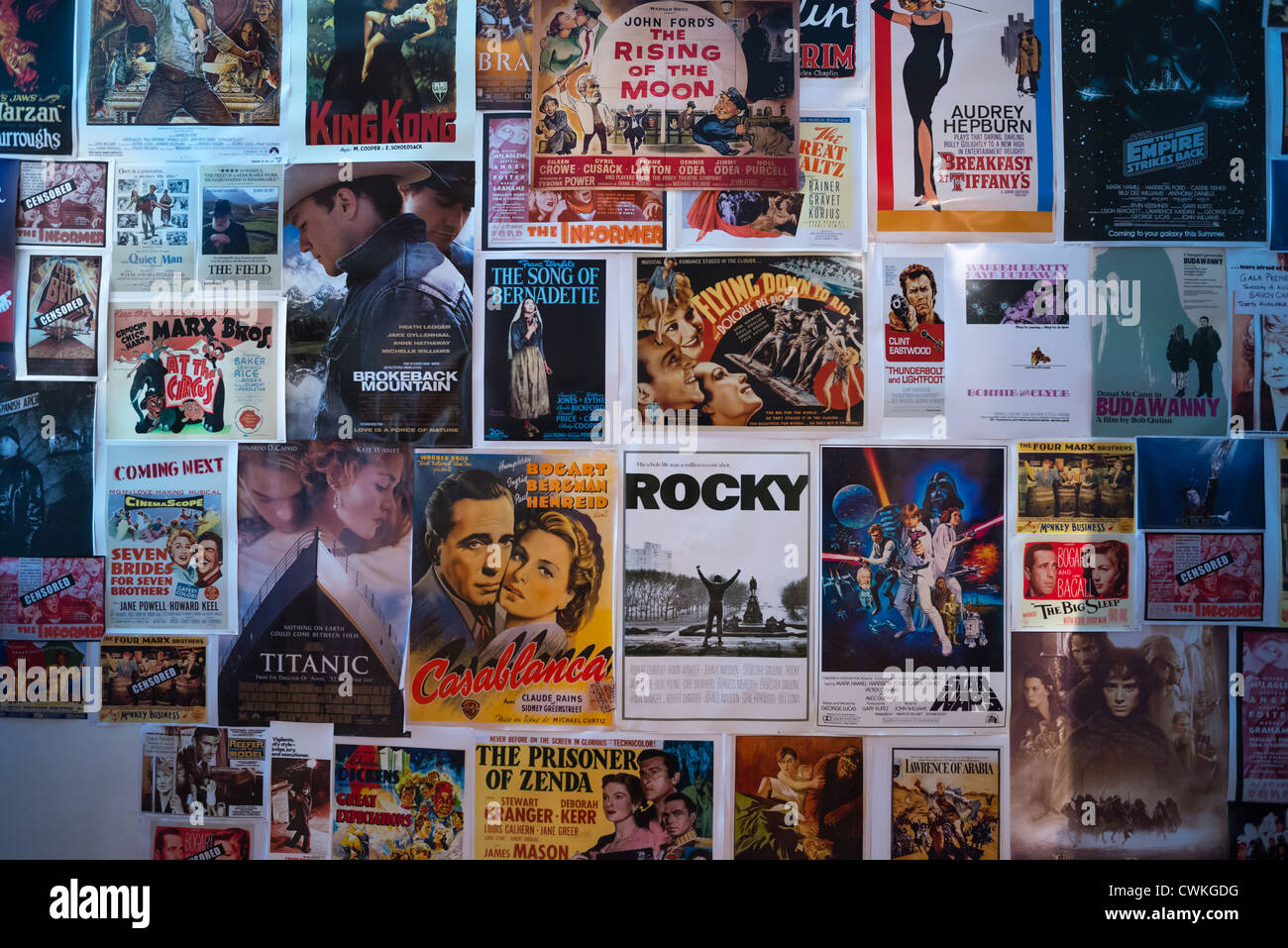 Iconic Hollywood Movie Posters On Wall