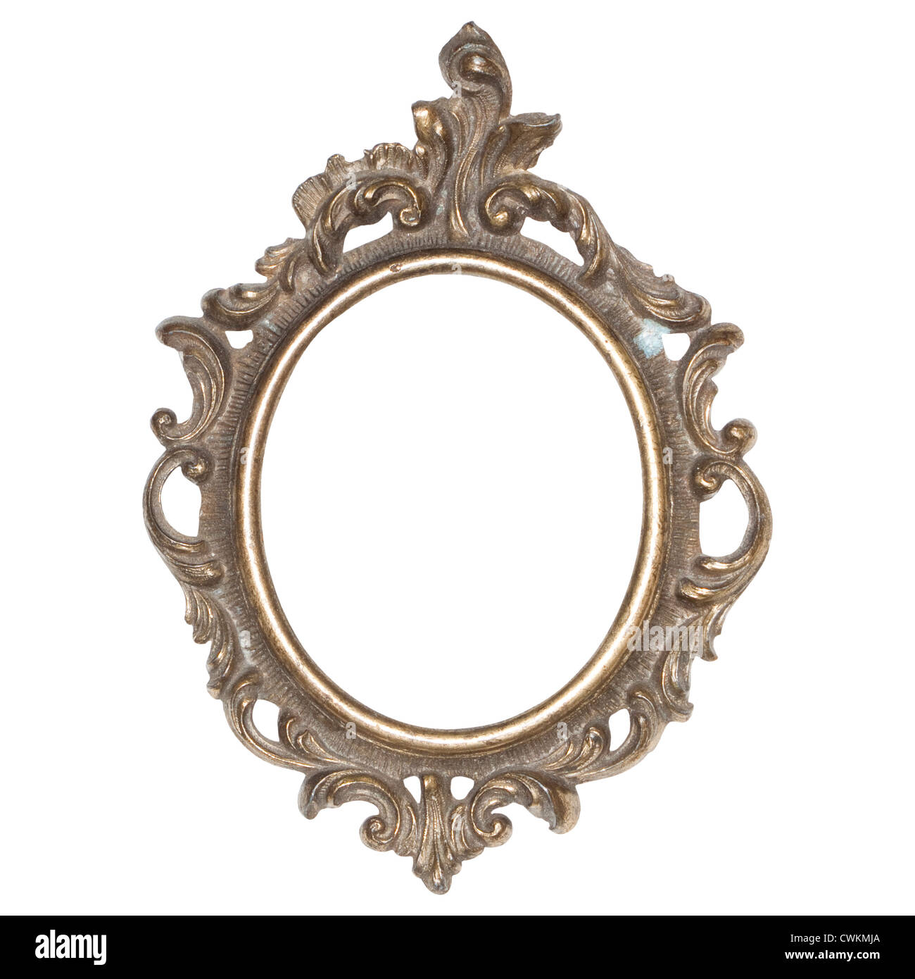 old, antique little metal frames, shabby chic Stock Photo: 50220418 ...