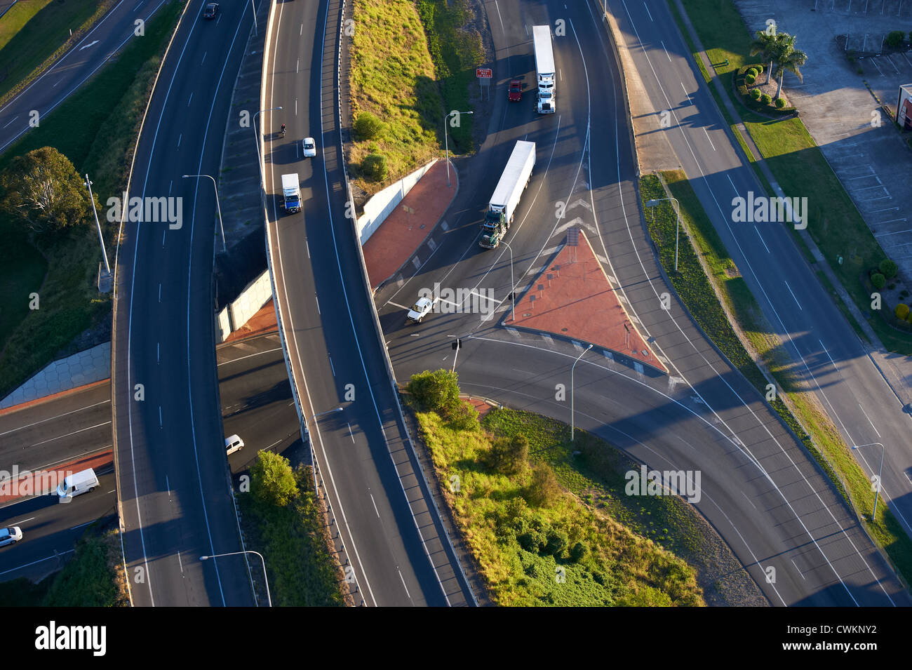 Aerial view of overpass Brisbane Australia - Stock Image