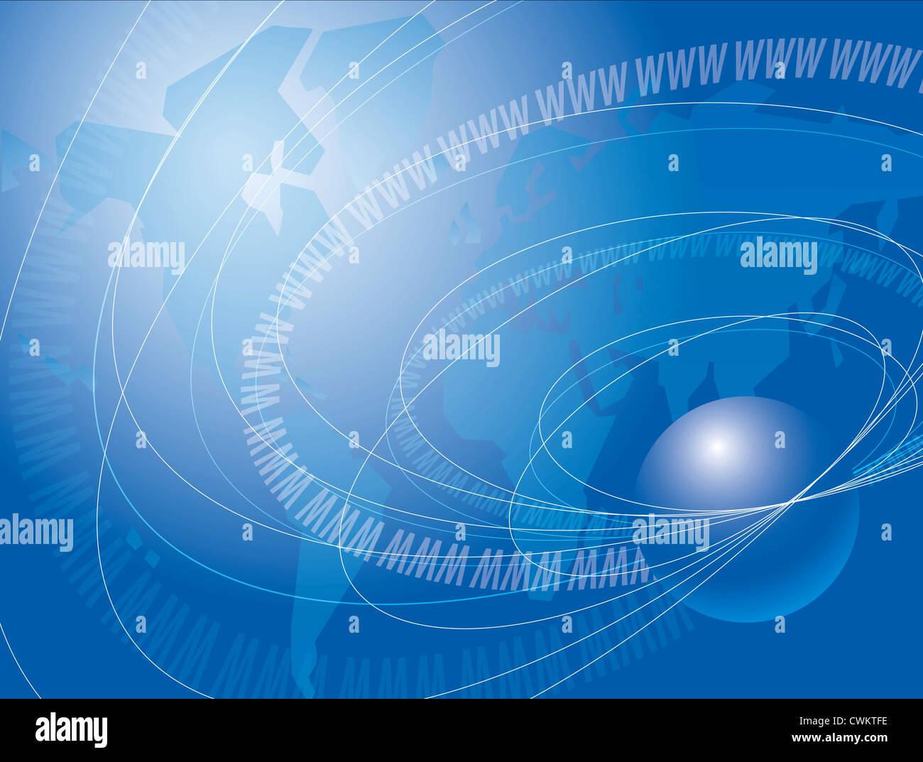 wireless communication technology - www - Stock Image