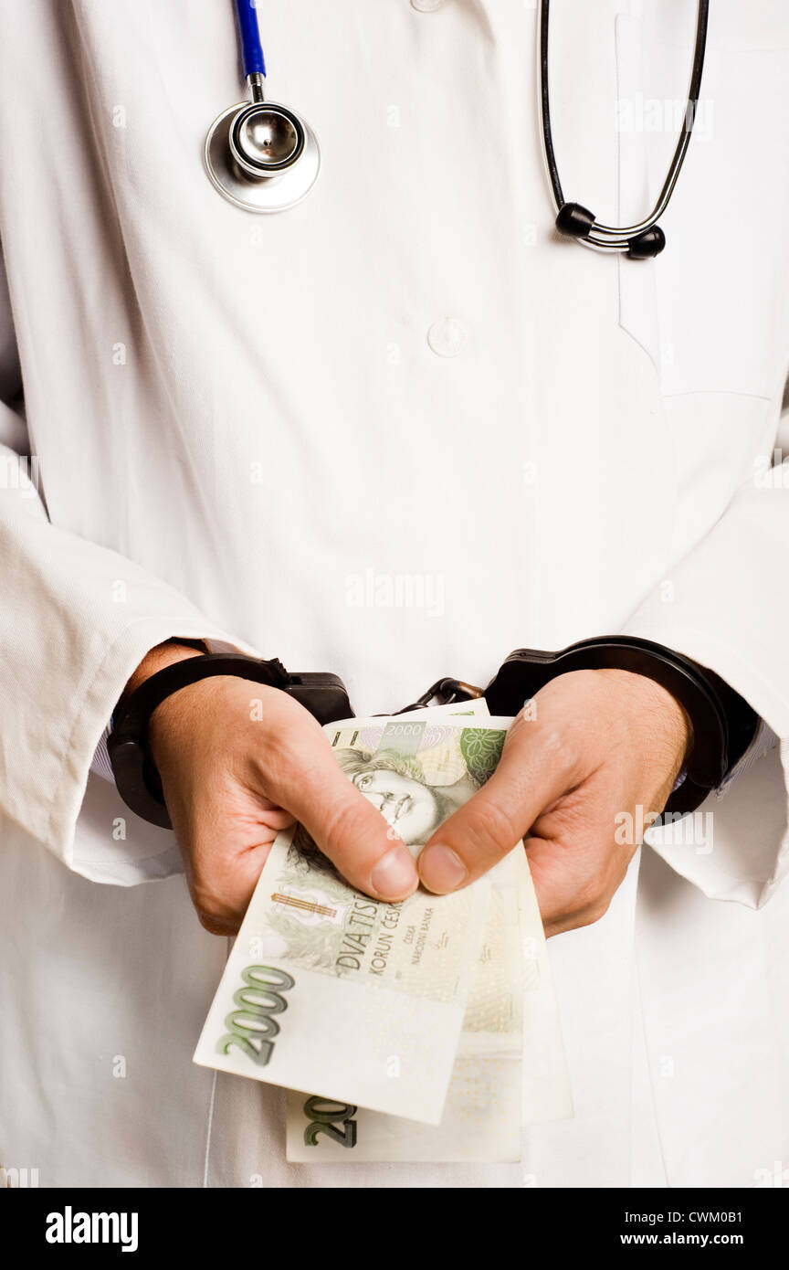 Corruption in Medical Care - Stock Image