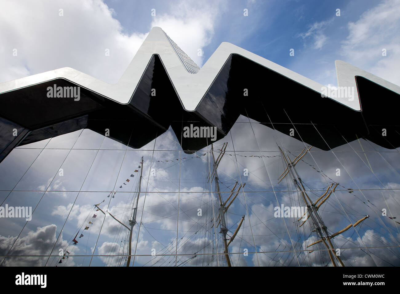 The Riverside Museum, Glasgow. Designed by Iraqi architect Zaha Hadid. - Stock Image
