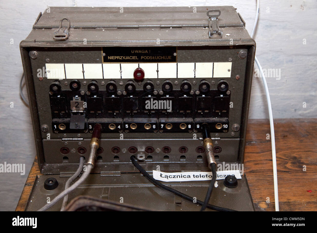 Portable military field switchboard used for telecommunications in Hitler's underground Bunker. Konewka Central - Stock Image