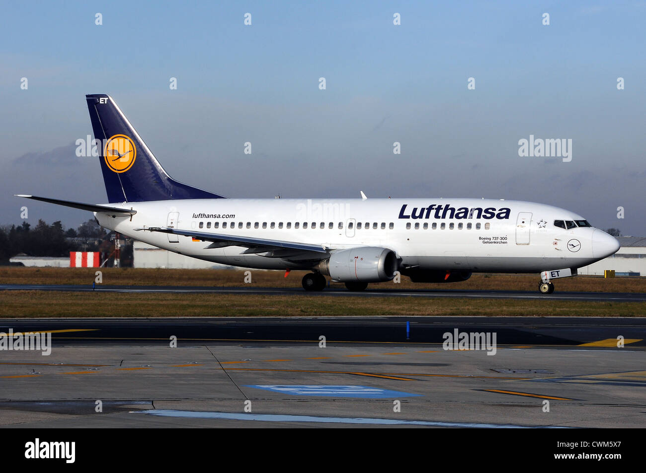 Lufthansa Boeing 737 - Stock Image