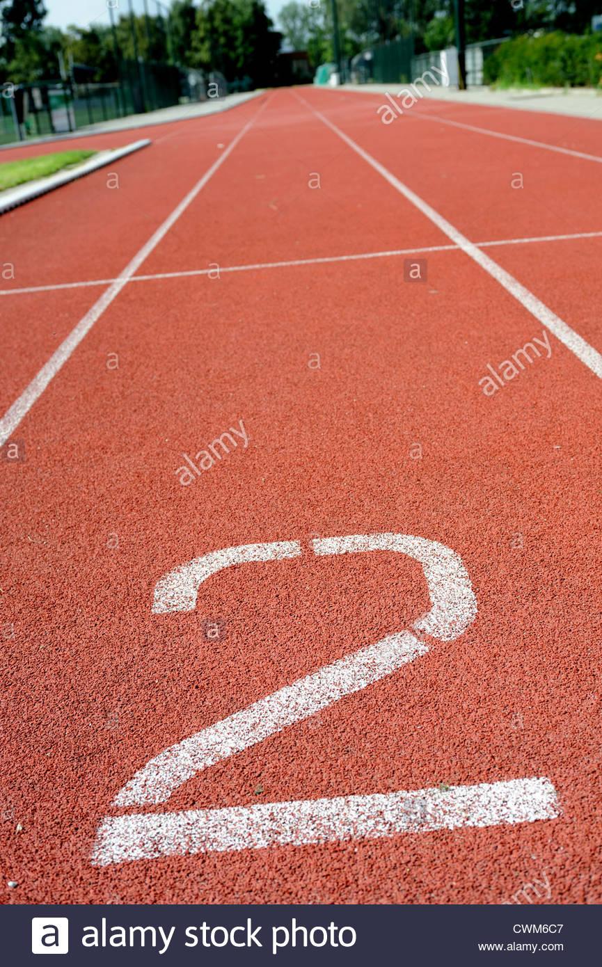 Athletics track - Stock Image
