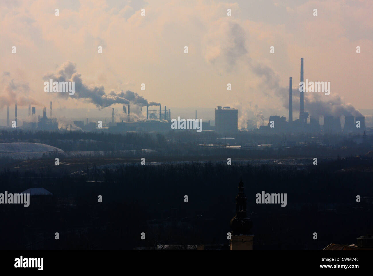 Smog over Ostrava - Stock Image