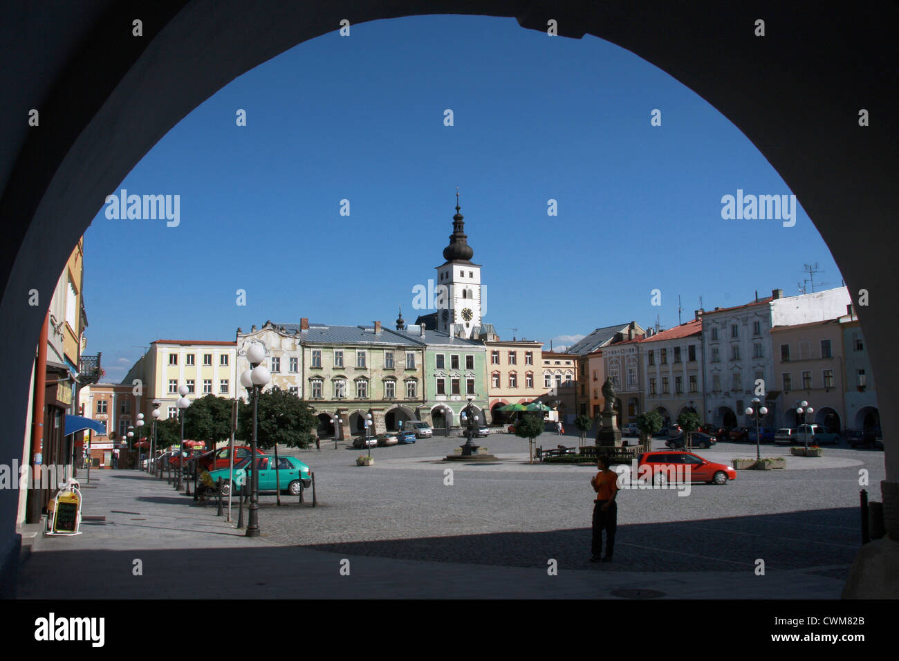 Pribor, Square of Sigmund Freud - Stock Image