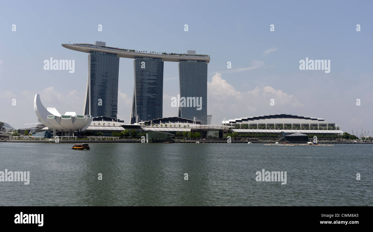 Marina Bay Sands Complex With Hotel Roof Top Infinity Pool Science