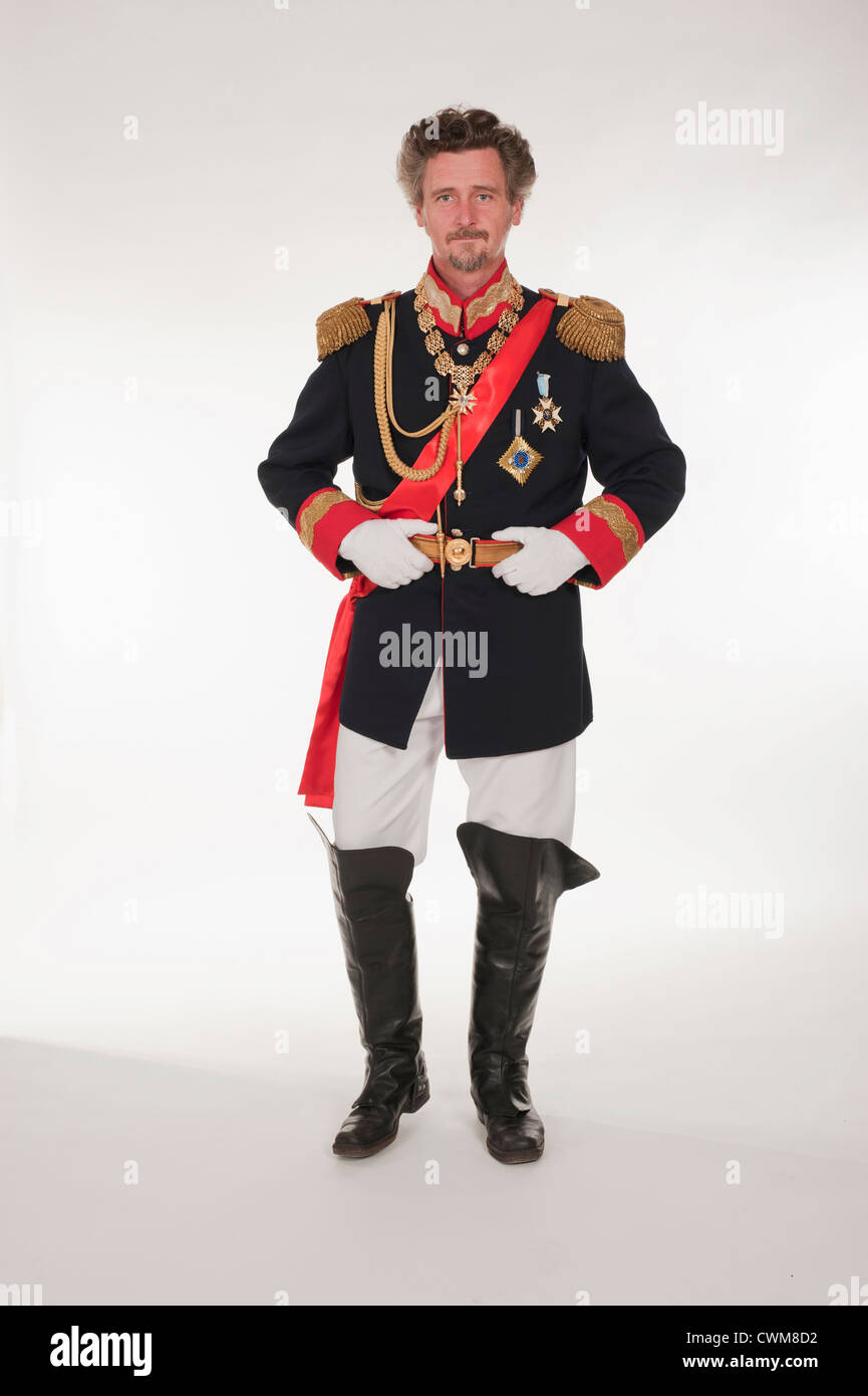 Man as King Ludwig of Bavaria, portrait - Stock Image