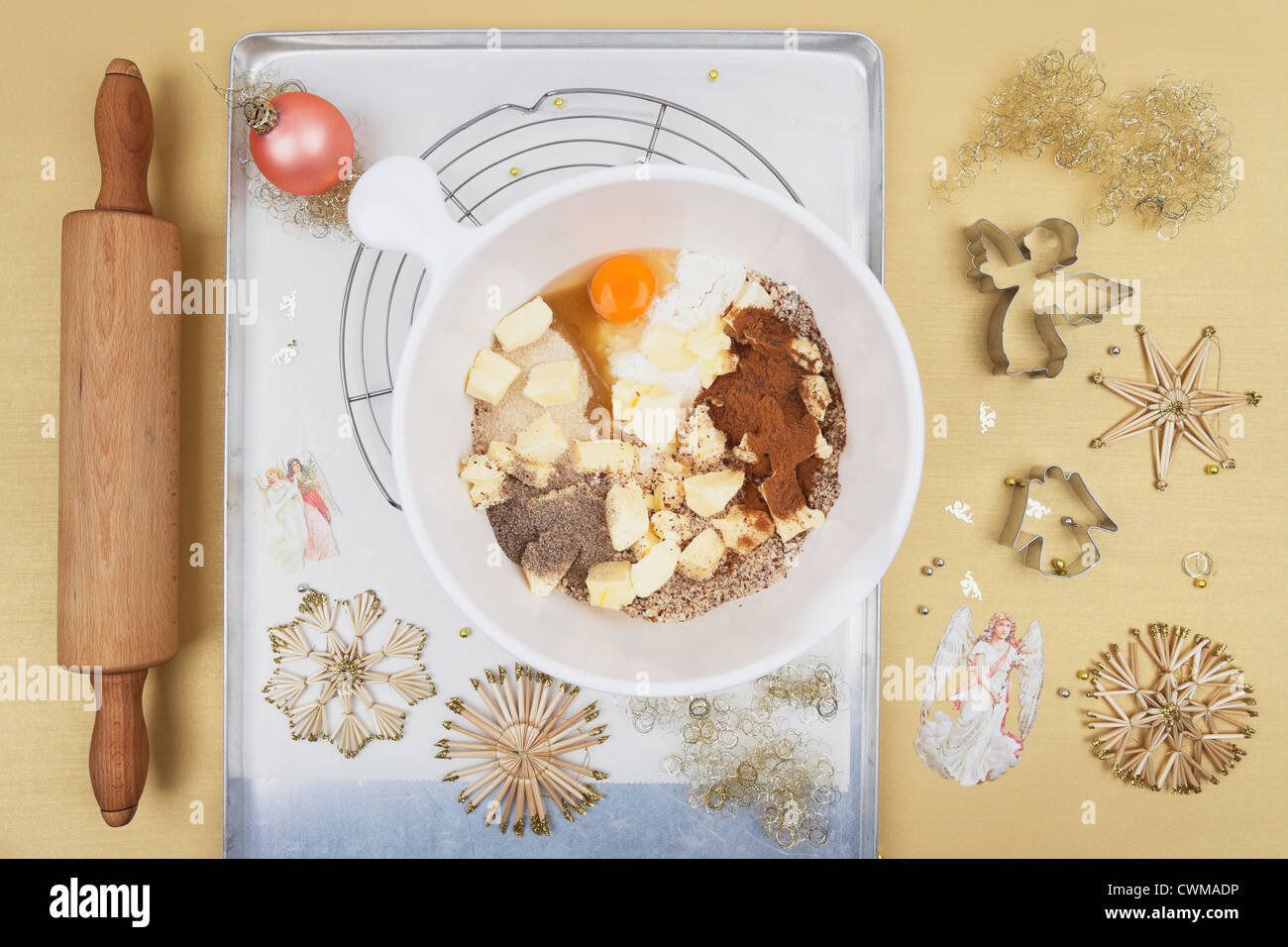 Ingredients For Christmas Angel Cookies Stock Photo 50234402 Alamy