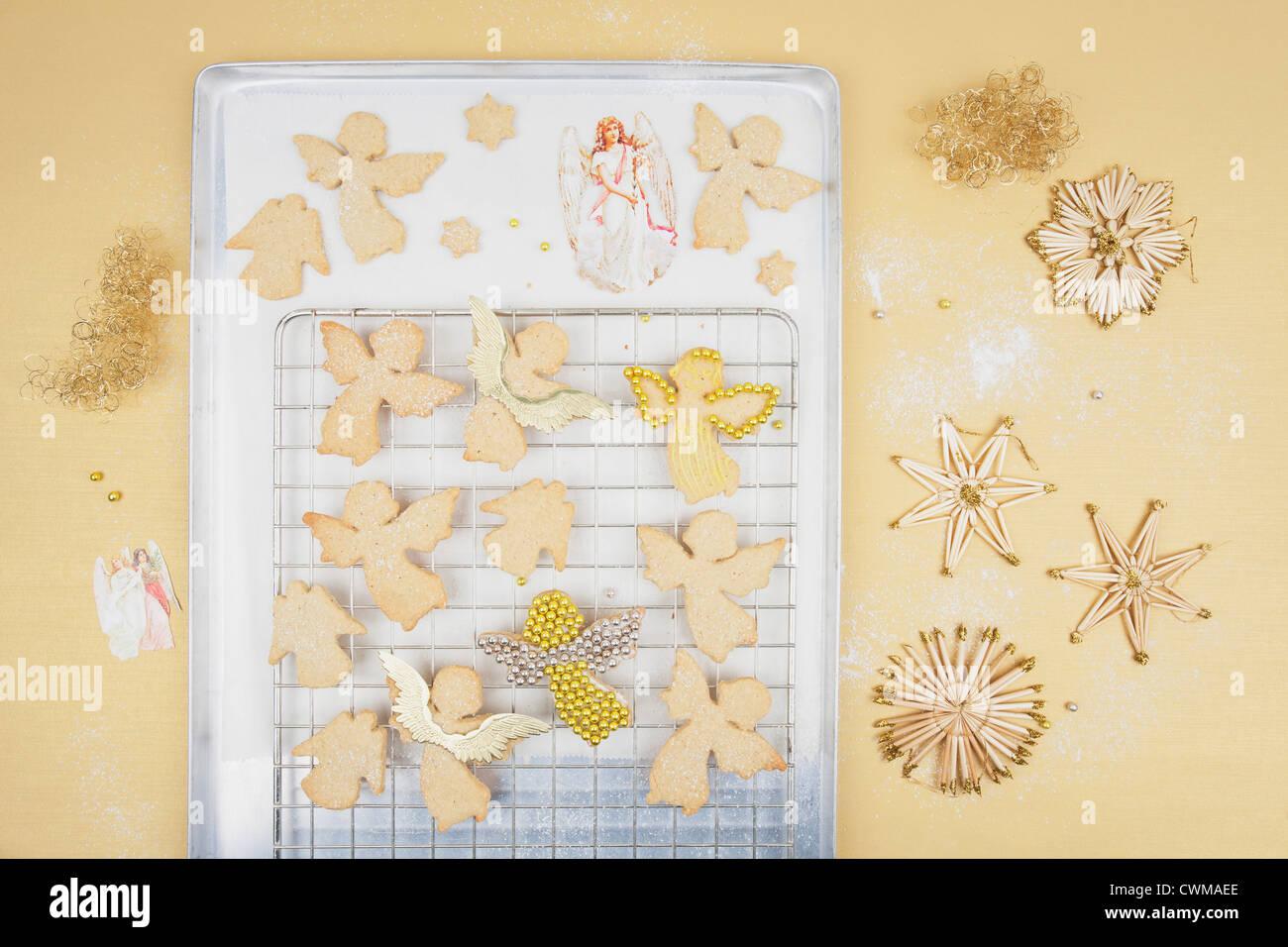 Freshly Baked Christmas Angel Cookies Stock Photos Freshly Baked